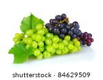 Ripe Red Grapes Isolated On...