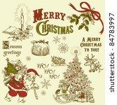vintage christmas doodles | Shutterstock .eps vector #84783997