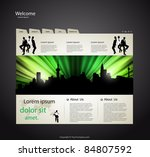 web site design template with... | Shutterstock .eps vector #84807592