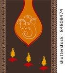 ganesha diwali greeting | Shutterstock .eps vector #84808474