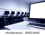 workplace room with computers... | Shutterstock . vector #84813640