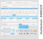 web site  design navigation... | Shutterstock .eps vector #84885229