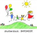 children's drawing of happy