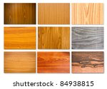 set of different wood texture... | Shutterstock . vector #84938815