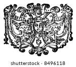 vintage 17th century style... | Shutterstock . vector #8496118