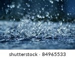 view of falling rain cast in a... | Shutterstock . vector #84965533