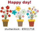 flowers for a happy day | Shutterstock .eps vector #85011718