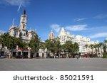 valencia  spain. famous city... | Shutterstock . vector #85021591