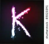 vector alphabet. neon letter   Shutterstock .eps vector #85023391