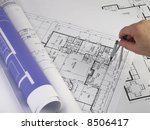 working on blueprint | Shutterstock . vector #8506417