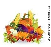 autumn vegetable and fruits | Shutterstock .eps vector #85068772