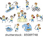 cartoon sport icon | Shutterstock .eps vector #85089748
