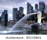 Singapore Dec 29  The Merlion...