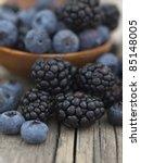 blueberries and blackberries   Shutterstock . vector #85148005