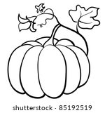 vector pumpkin vegetable on white background - stock vector
