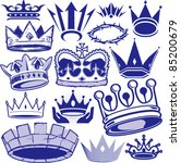 crown collection | Shutterstock .eps vector #85200679