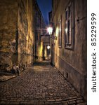 Alley In Old Prague