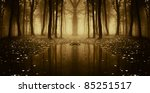 Fantasy Autumn Forest With...