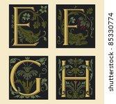 Sixteenth Century Alphabet E F...