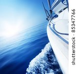 travel .luxury yacht | Shutterstock . vector #85347766
