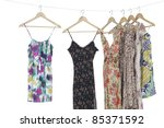 flowered patterned dress in a... | Shutterstock . vector #85371592