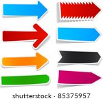 sticky collection of paper... | Shutterstock .eps vector #85375957