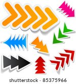 sticky collection of paper... | Shutterstock .eps vector #85375966