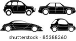 cars collection   vector | Shutterstock .eps vector #85388260