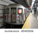 Train In Subway Station  Photo...