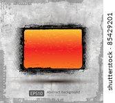 abstract grunge orange banner... | Shutterstock .eps vector #85429201