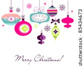 retro christmas ornaments | Shutterstock .eps vector #85434673