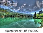 barcis lake italy | Shutterstock . vector #85442005