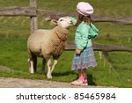 A Girl And A Sheep