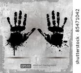 hand print   vector images... | Shutterstock .eps vector #85471042