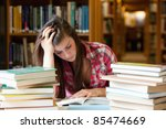 focused student surrounded by... | Shutterstock . vector #85474669