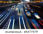 Motion Blur. Rush Hour In The...