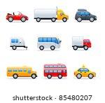 vector car icons | Shutterstock .eps vector #85480207