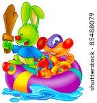 funny cartoon | Shutterstock . vector #85488079