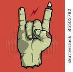 rock is not dead with this rock ... | Shutterstock .eps vector #85502782