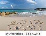 year 2012 at caribbean sea in... | Shutterstock . vector #85571245