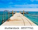 pier over waters | Shutterstock . vector #85577761