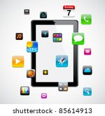 vector concept communicator...   Shutterstock .eps vector #85614913
