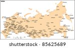 russia country map | Shutterstock .eps vector #85625689