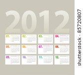 minimalistic 2012 calendar