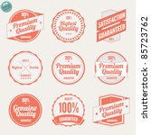 premium quality labels and...   Shutterstock .eps vector #85723762