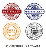 stamp - bestseller - stock vector