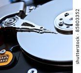 close up of hard disk with... | Shutterstock . vector #85803352