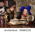 witch  children with crystal...   Shutterstock . vector #85883218
