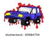 vector cartoon off road vehicle....   Shutterstock .eps vector #85884754