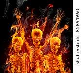 Fire Skeletons